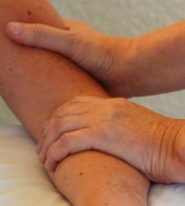 Handen behandelen fysio